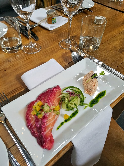 Duo of salmon Gravadlax & Salmon rillettes