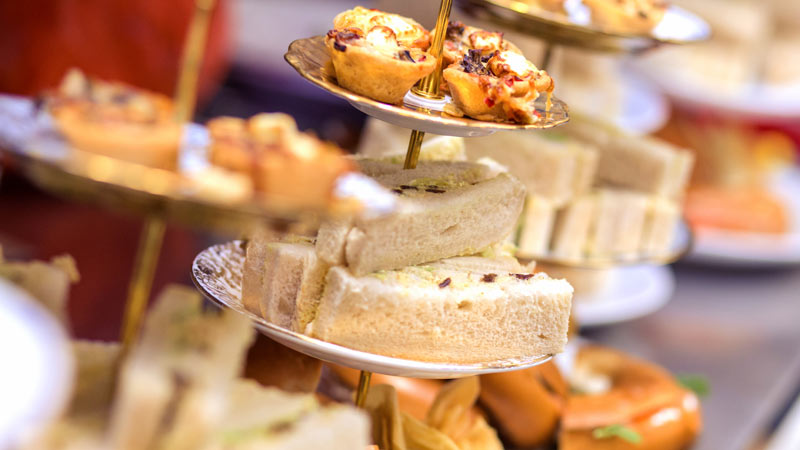 Food Delivery Afternoon Tea, Sandwiches and Cakes